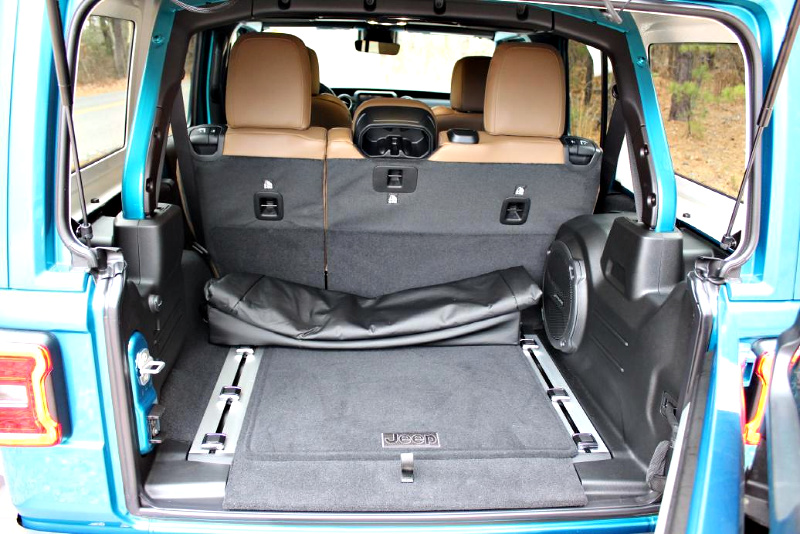 spacious trunk area on Jeep Wrangler Sahara