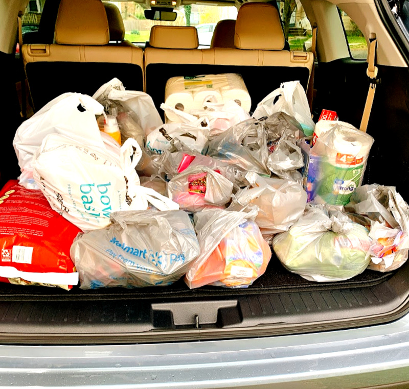 groceries in 2020 Toyota Highlander