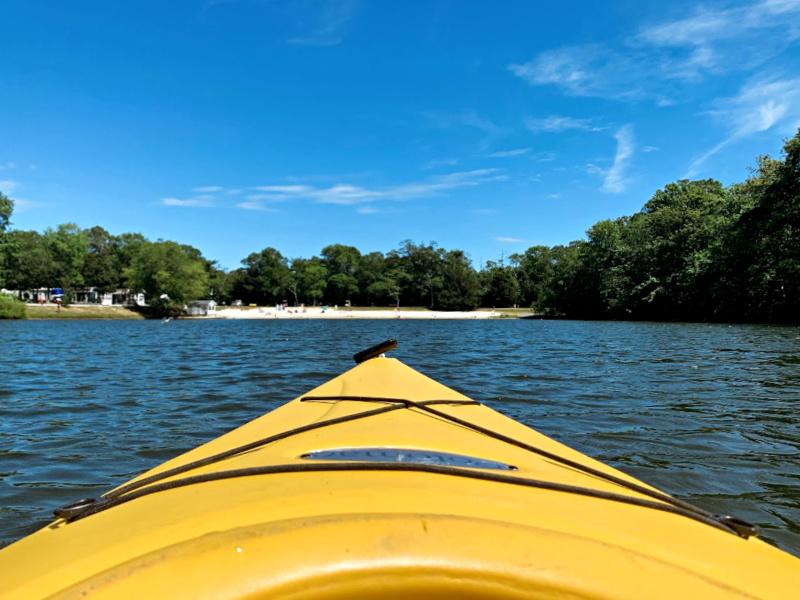 kayaking on KOA lake