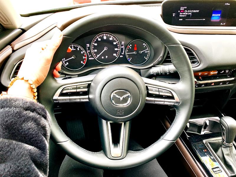 dashboard of the Mazda CX-30
