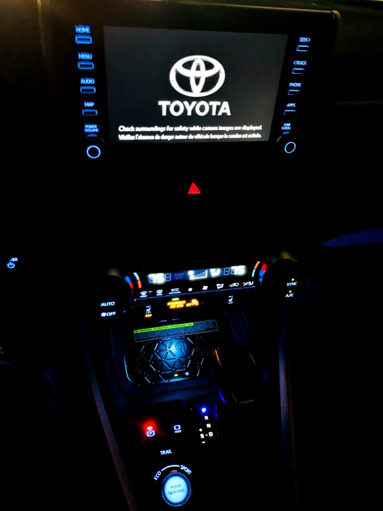 night-time interior lights on Toyota Rav4 Hybrid