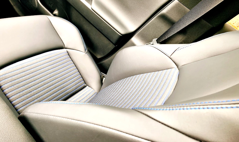 decorative stitching on the Rav4 hybrid seats