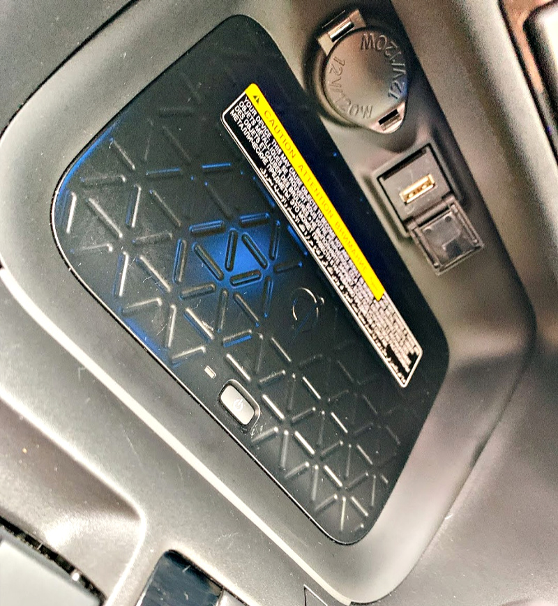 Toyota Rav4 Hybrid wireless phone charging