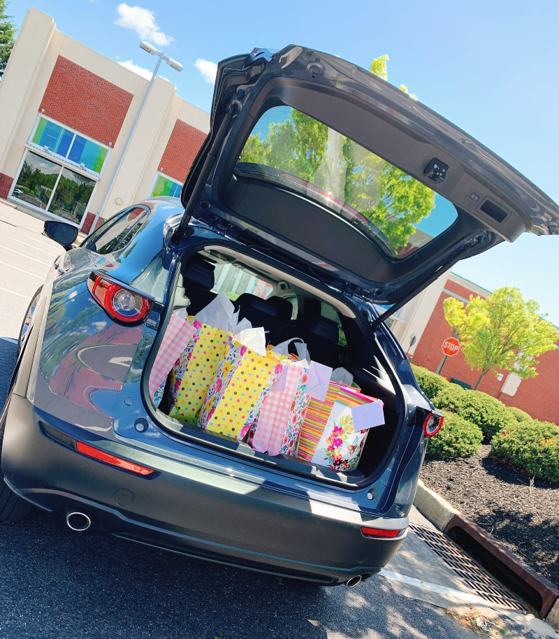 Trunk space on the 2020 Mazda CX-30
