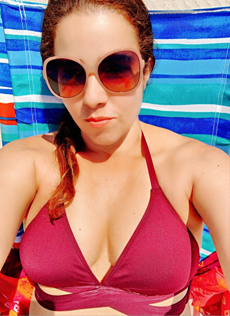 Trendy Latina at the beach