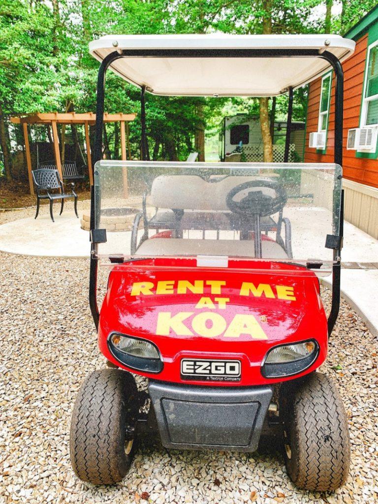 golf cart rental at Cape May KOA