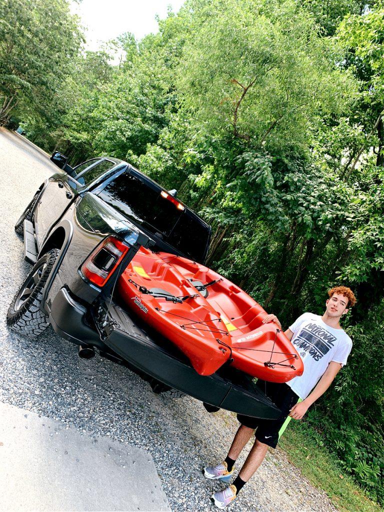 kayaks in the 2020 Ram Rebel