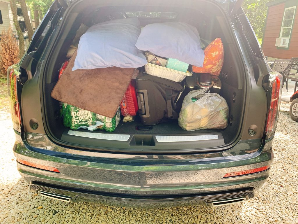 Cadillac XT6 loaded for camping