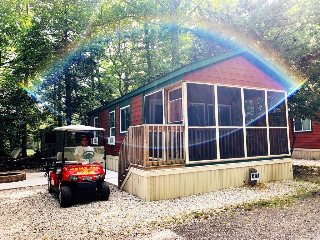 cottage rental unit at Cape May KOA