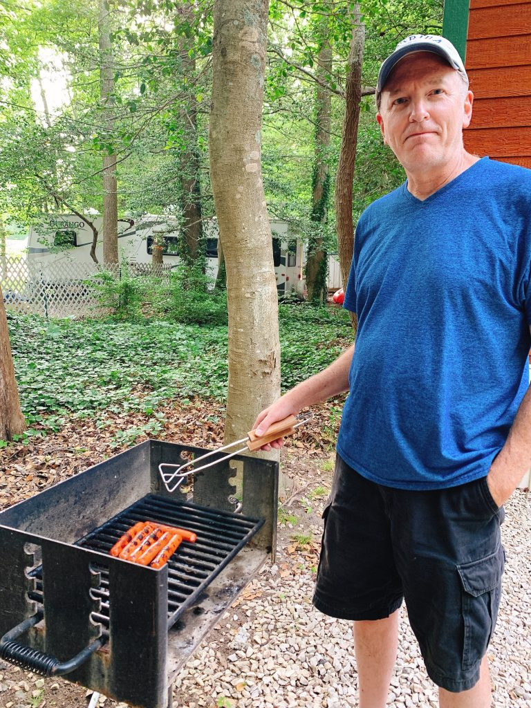 grilling at Cape May KOA