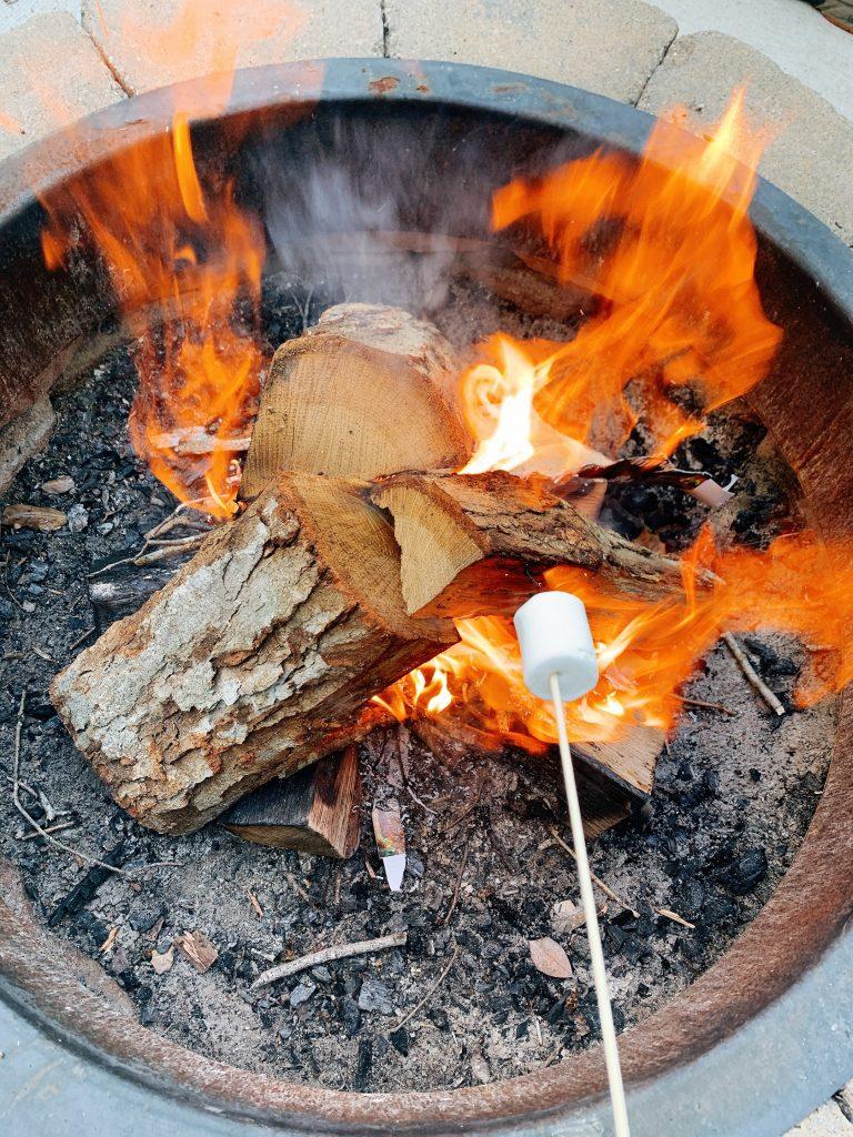 campfire time at Cape May KOA