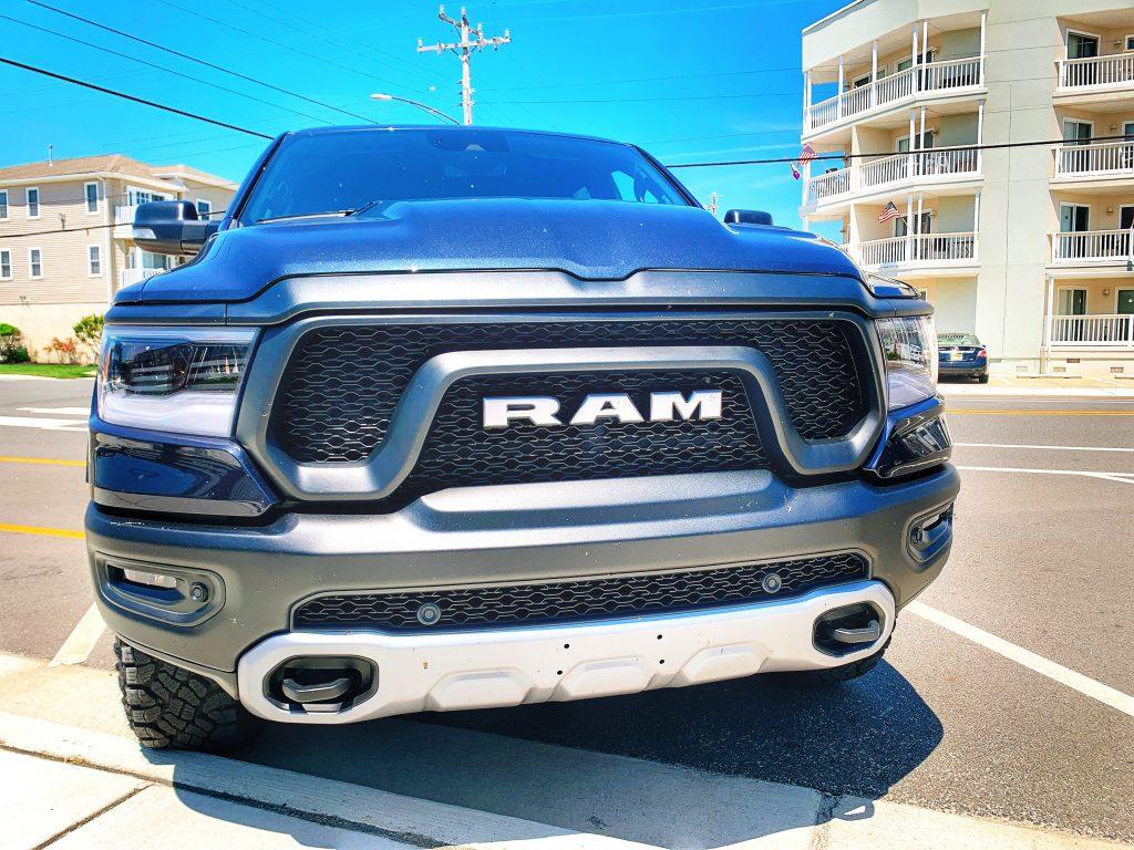 2020 Ram Rebel V6 Turbo Diesel at the shore