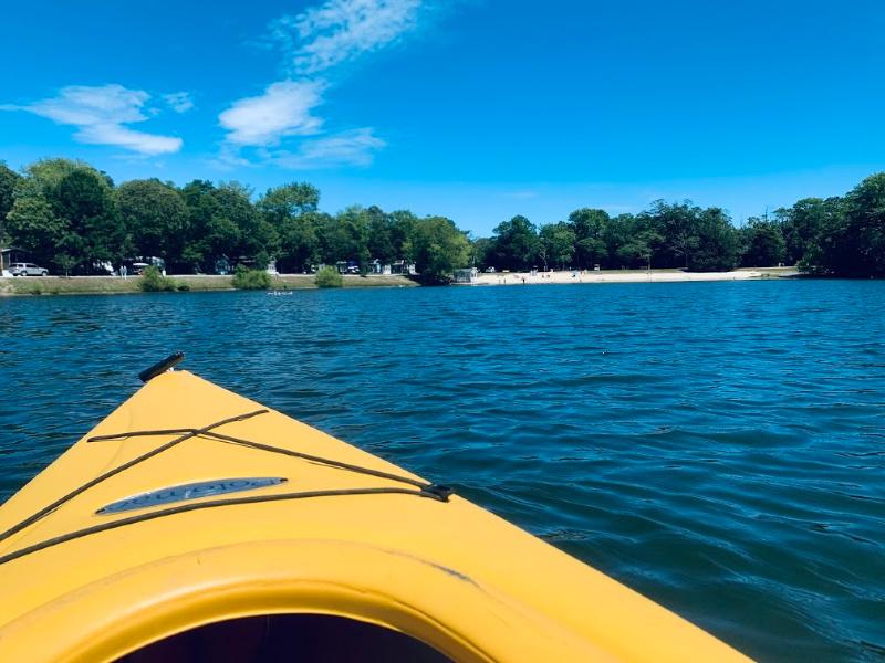 view while kayaking at Cape May KOA