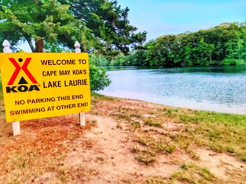 lake laurie at Cape May KOA