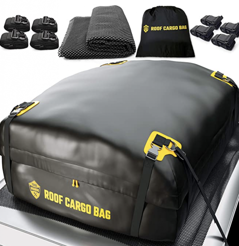 Add extra room with a roof cargo bag