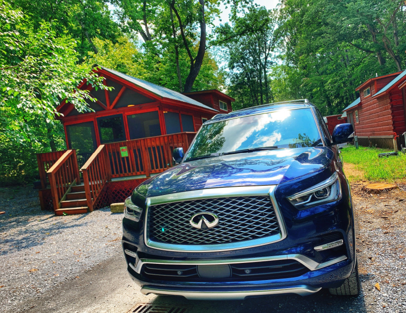 Infinity QX90 at Jellystone Campground