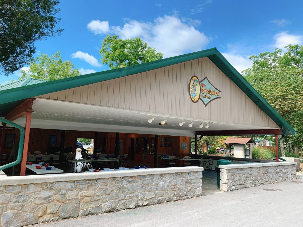 craft pavilion at Jellystone campground