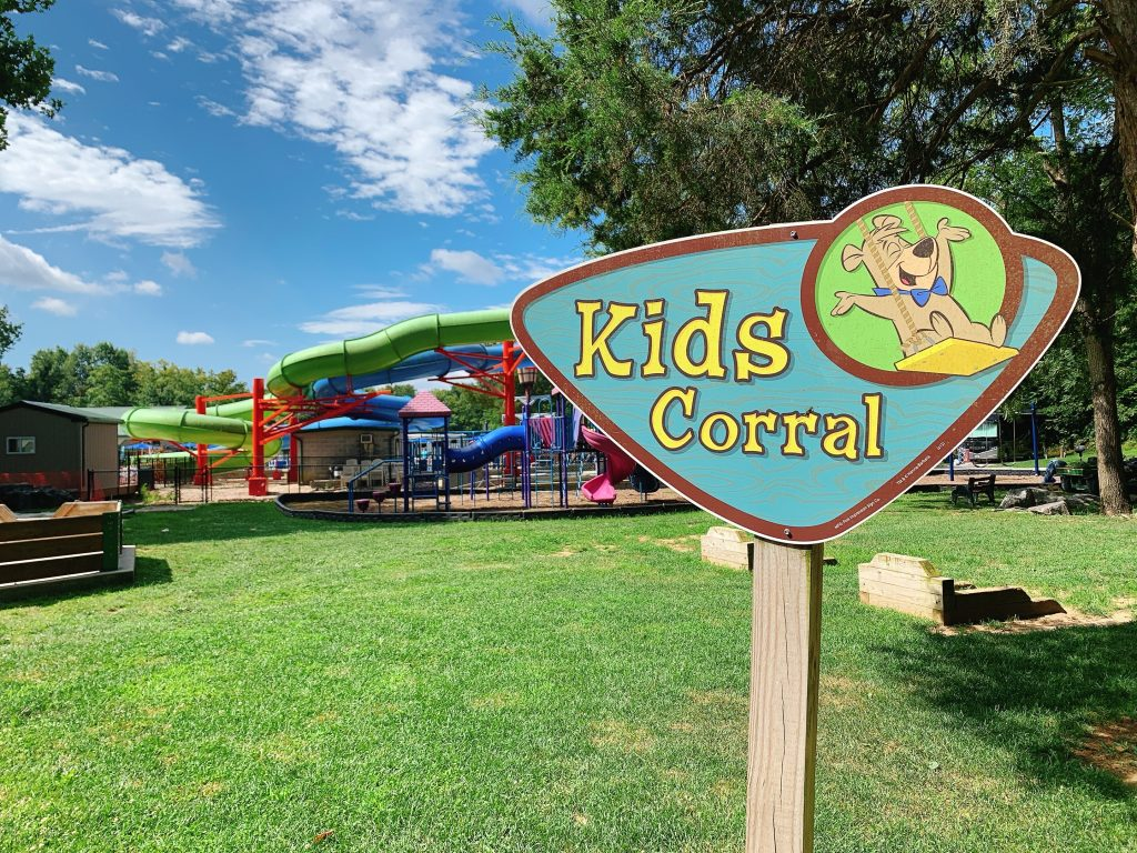kids corral area at Jellystone campground