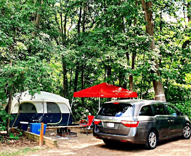 tent site at Jellystone campground