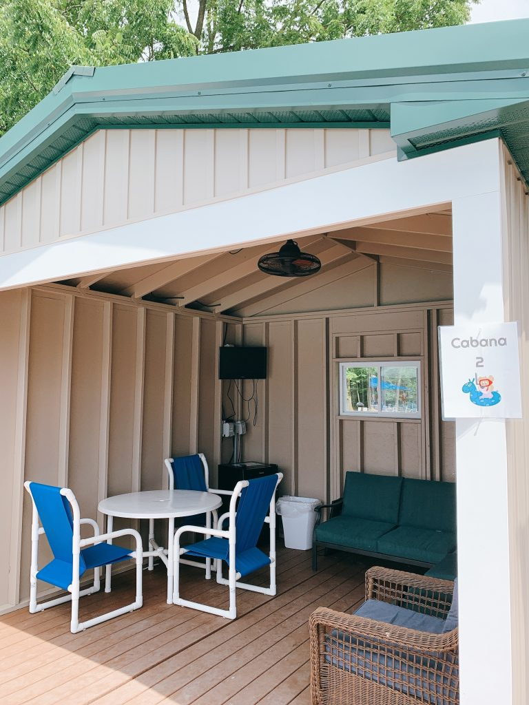 pool cabana at jellystone campground