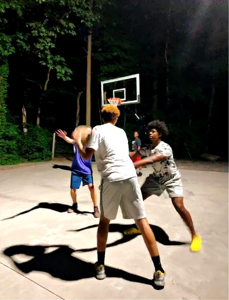 basketball at Jellystone campground