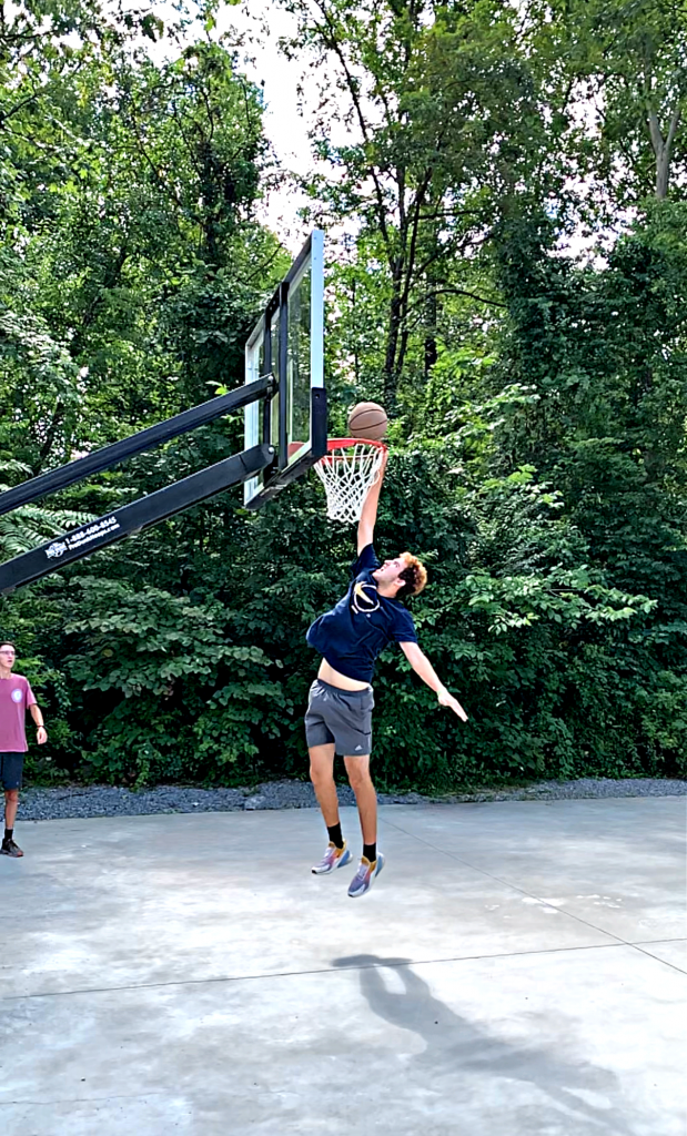 dunking at Jellystone Campground