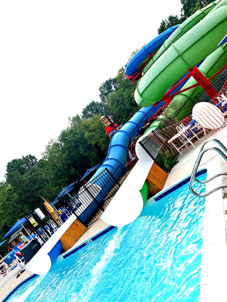 water slides at Jellystone campground