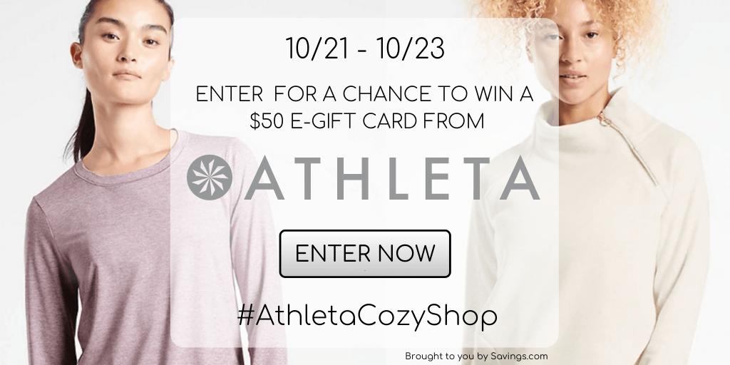Win a $50 e-gift card from Athleta.