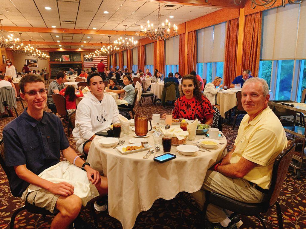 dining at Woodloch restaurant