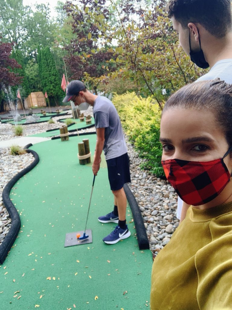 miniature golf at Woodloch