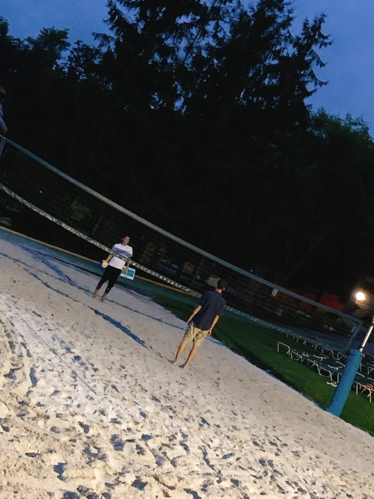 volleyball on the beach at Woodloch