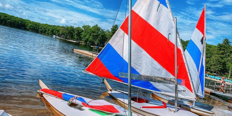 sailboats at Woodloch Resort