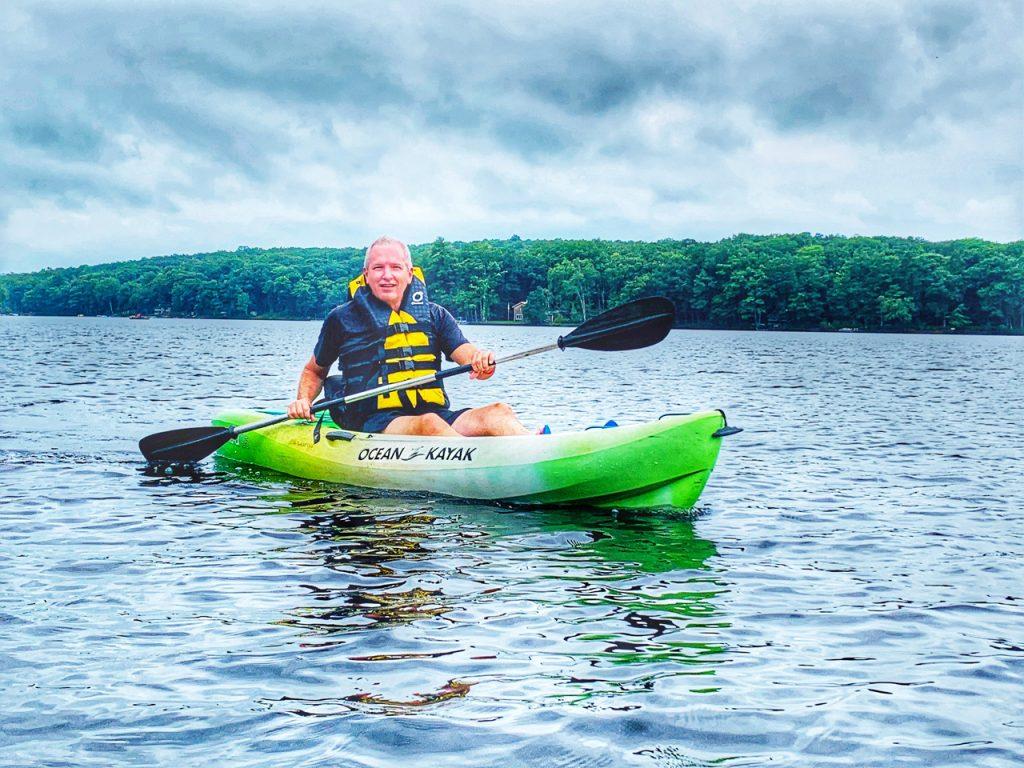 kayaking fun at Woodloch