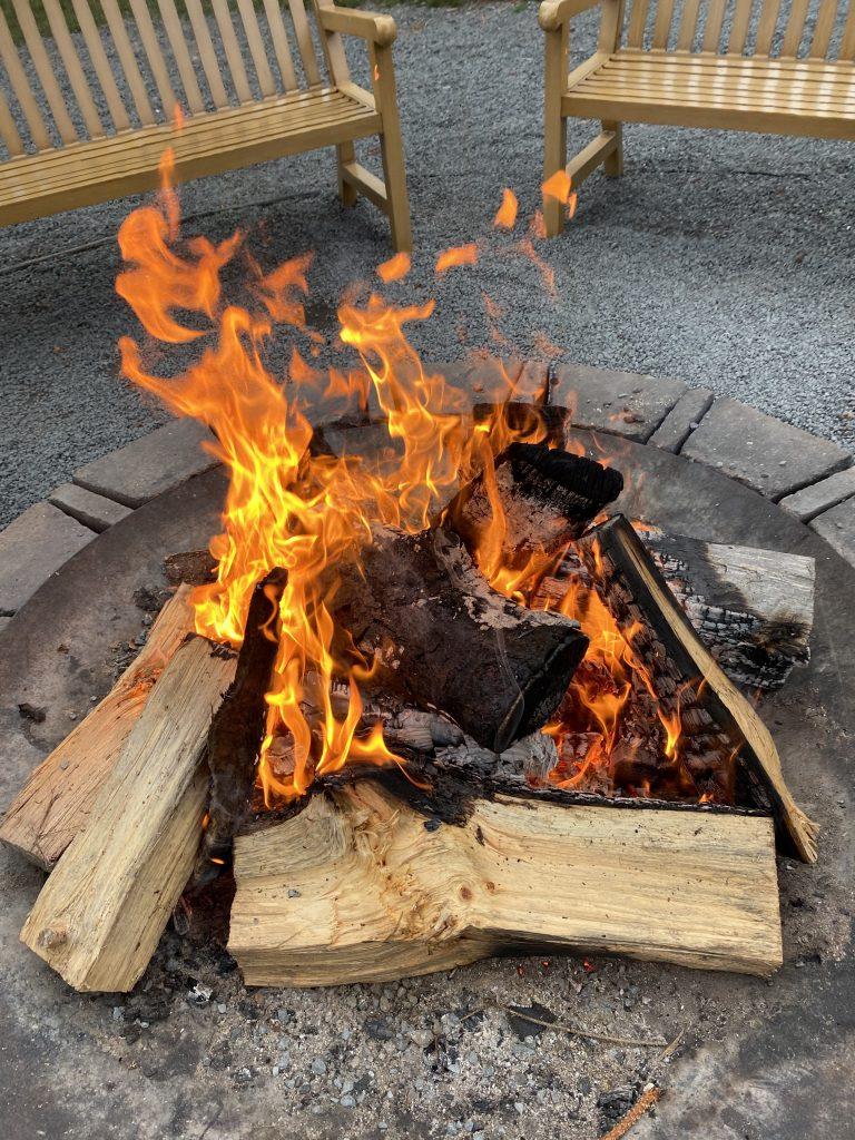 campfire at Woodloch