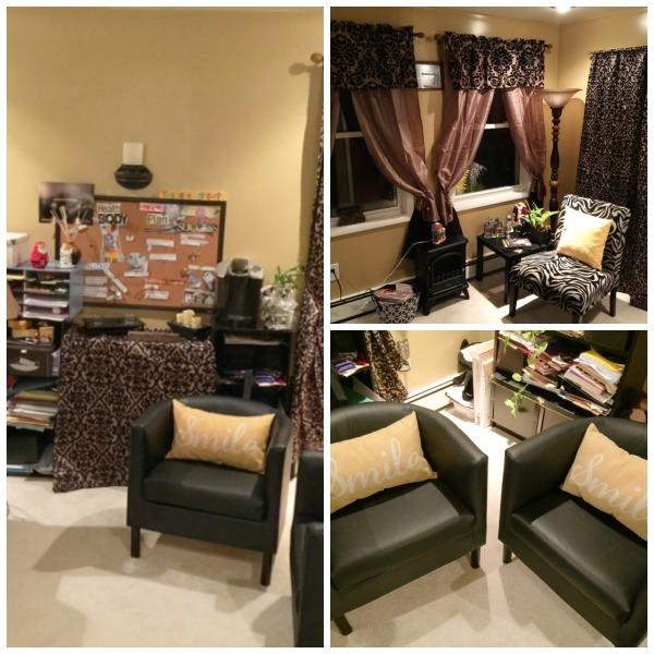 trendy cozy home office