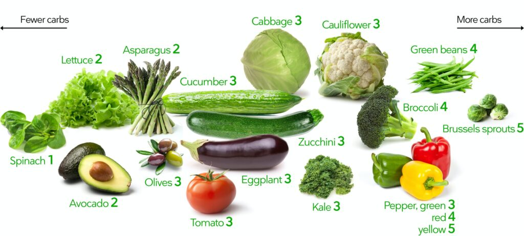 low carb vegetable list