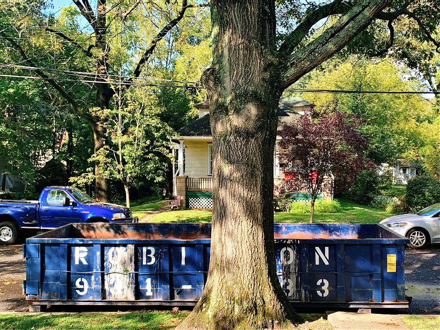 Clean out the house with a dumpster