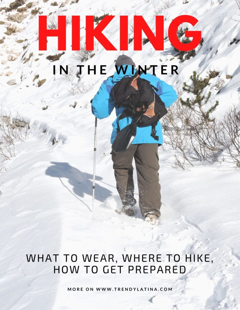 hiking in the winter