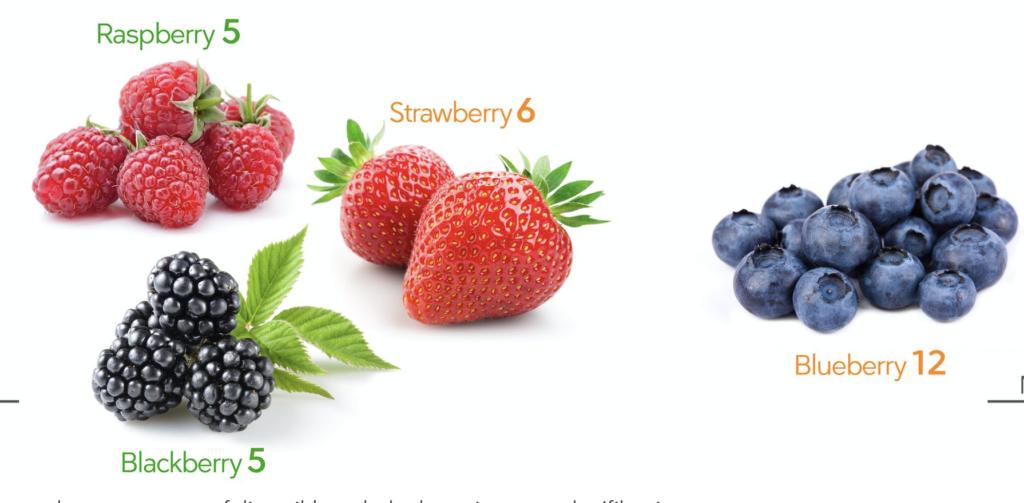berries have carbs