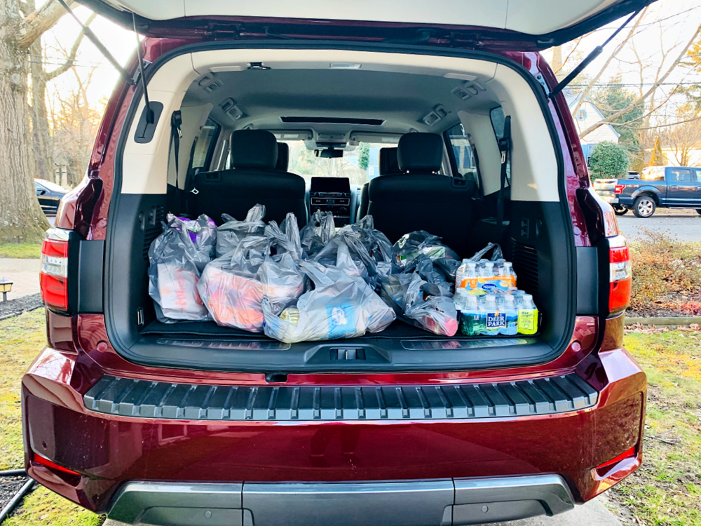Bringing home the groceries in the Nissan Armada