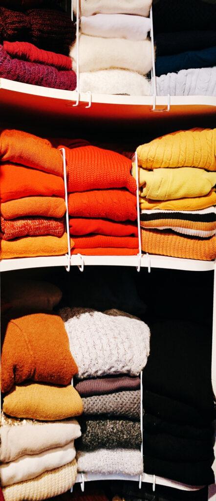 organized sweaters