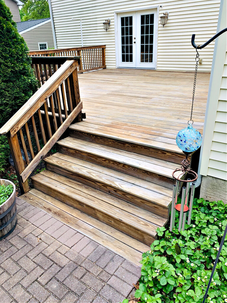 unpainted deck