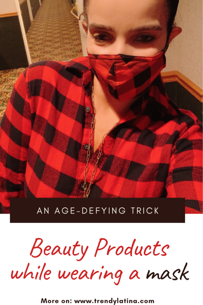 beauty products while wearing a mask 2
