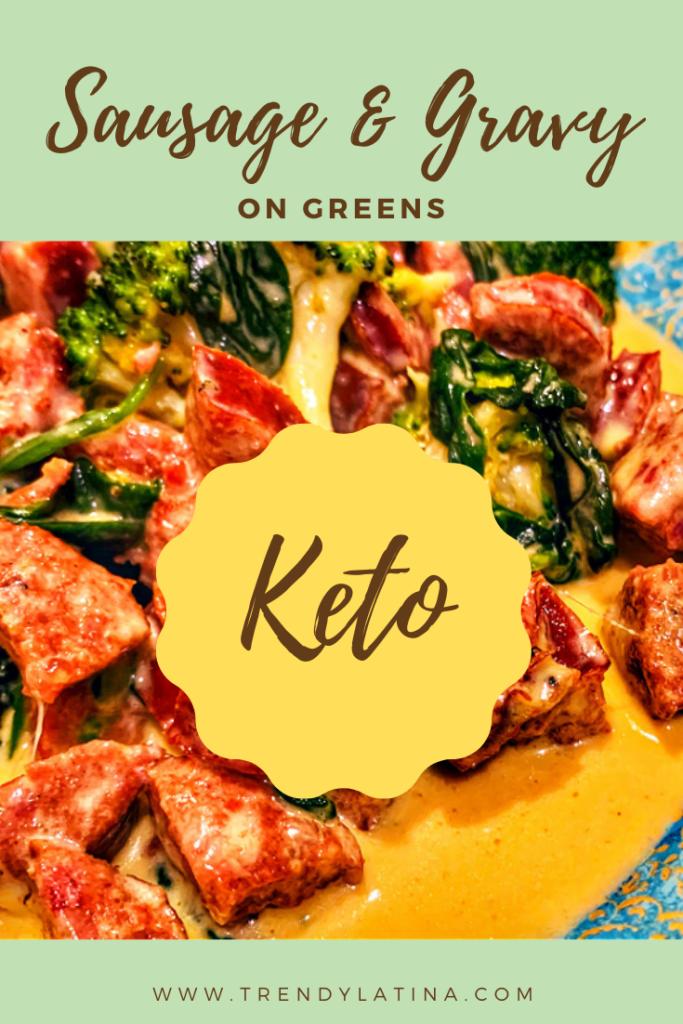 Keto Sausage Gravy With Greens Recipe