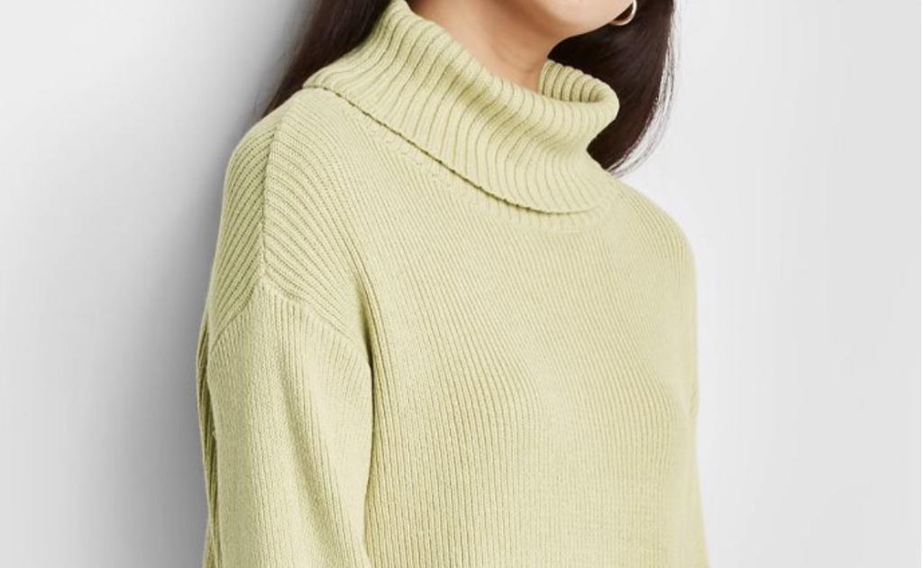 light green sweater