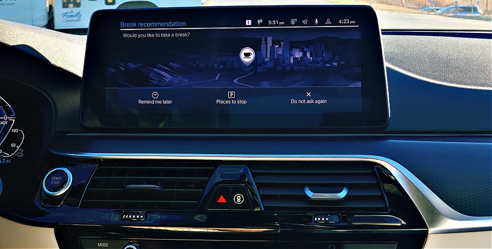 take a break in the BMW 530e
