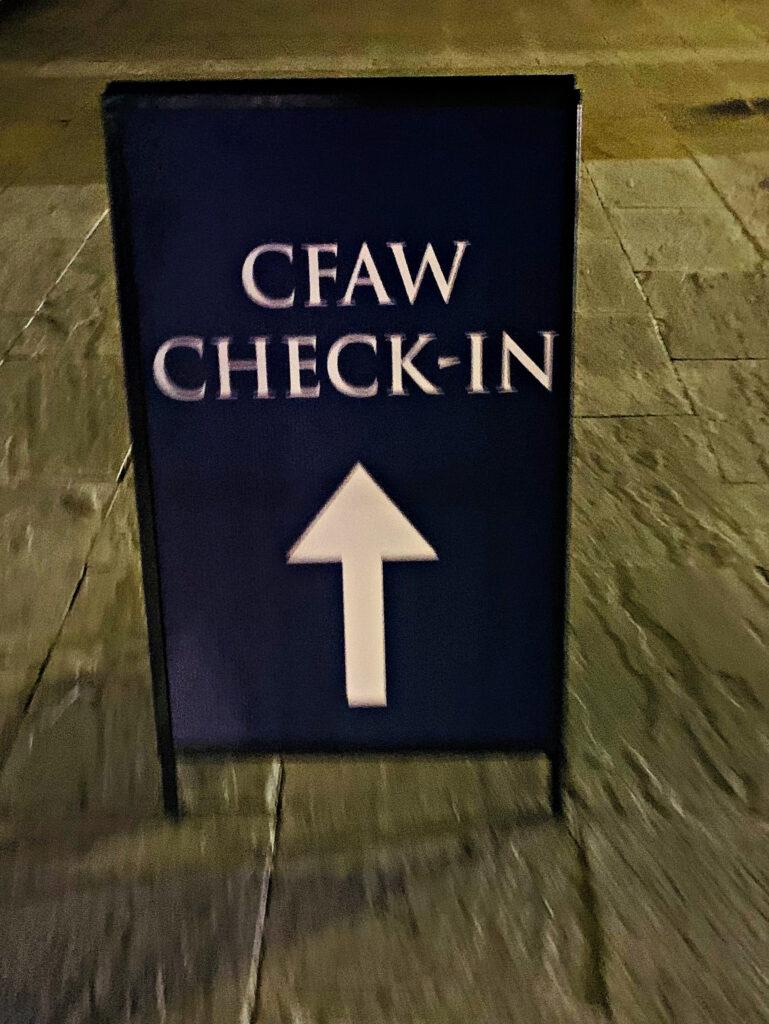 Liberty University CFAW check-in