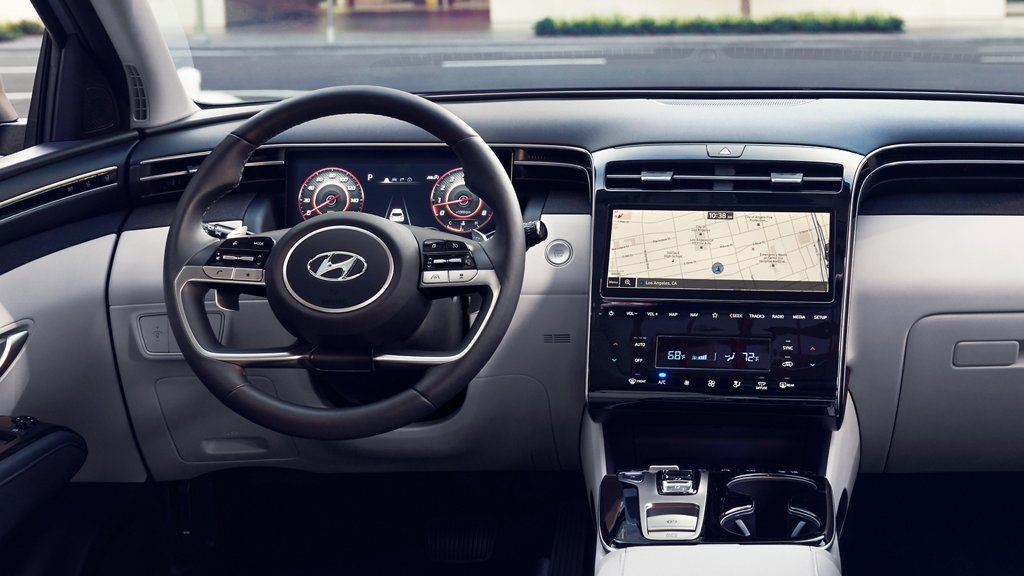 inside view of the 2022 Hyundai Tucson