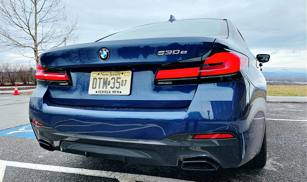 rear view of 2021 BMW 530e