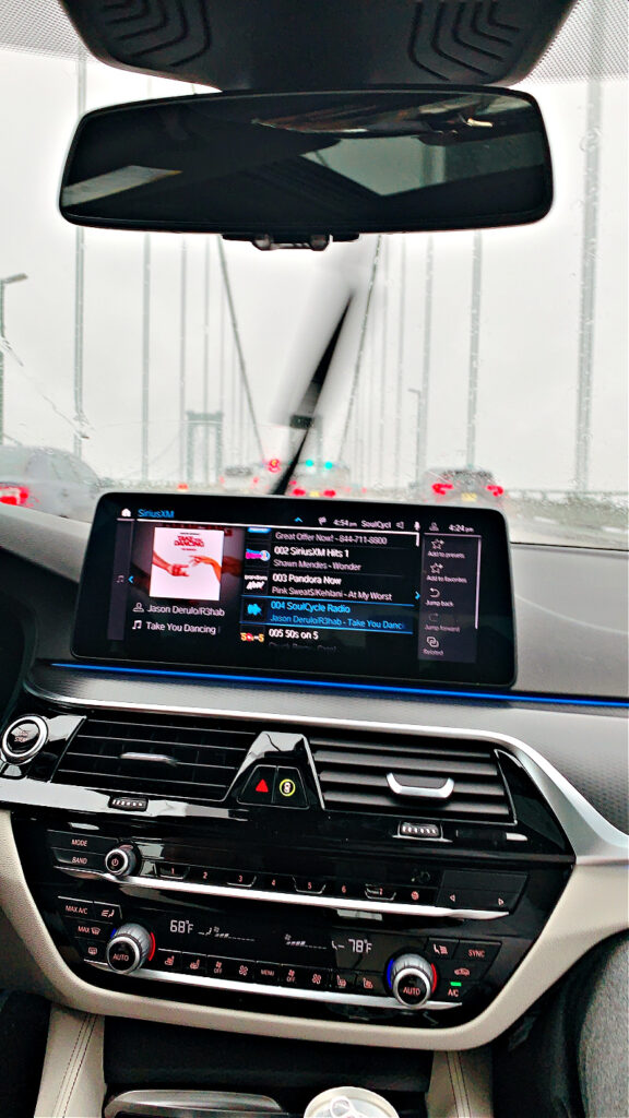 driving the 2021 BMW 530e